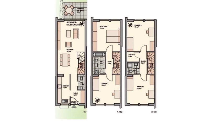 ES Wohnungsbau - Projekt Skyline 200 - Geschossübersicht