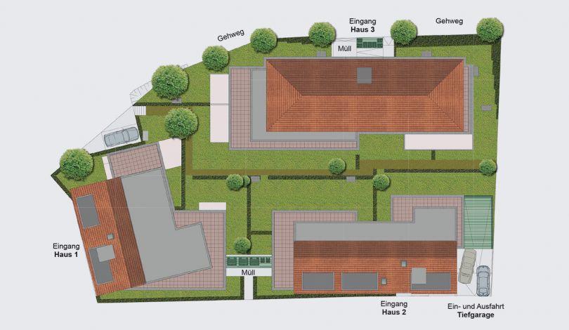 ES Wohnungsbaugesellschaft - Am Eschenbrunnen - Lageplan